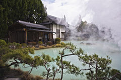 hot spring in Japan royalty free stock images
