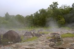 Hot spring Stock Image