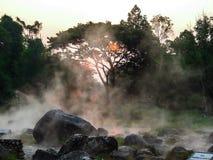 Hot spring. Morning is beautiful hot spring  at Jae Son National Park,Thailand Royalty Free Stock Image