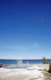 Hot spring near yellowstone lake Stock Images