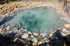 Hot spring pond. Royalty Free Stock Photography