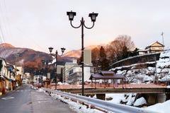 Hot spring resort town Shibu Onsen Stock Photography