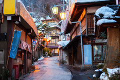 Hot spring resort town Shibu Onsen Royalty Free Stock Photos