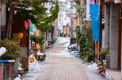 Hot spring resort town Shibu Onsen Stock Images