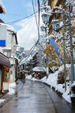 Hot spring resort town Shibu Onsen Royalty Free Stock Image