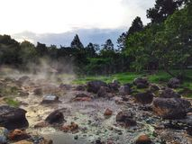 Hot spring. And rock Royalty Free Stock Images