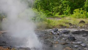 Hot spring sources at at Pong Duet Geyser stock footage