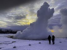 Strokkur hot spring is active and erupting every 10 minutes.