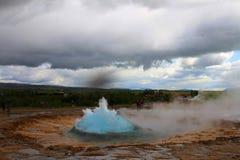 Hot spring, strokur, geysir, iceland royalty free stock photo