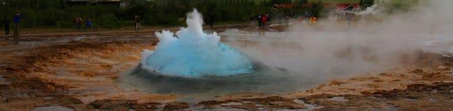 Hot spring, strokur, geysir, iceland stock photos