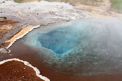 Hot spring, strokur, geysir, iceland royalty free stock images