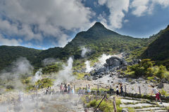 Hot spring valley in Hakone, Japan Royalty Free Stock Image