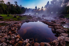 Hot spring water. Stock Image