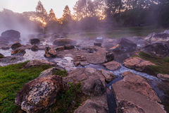 Hot spring water. Royalty Free Stock Photo