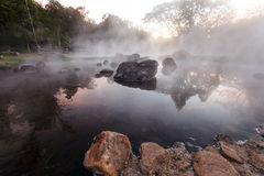 Hot spring water. Stock Photos