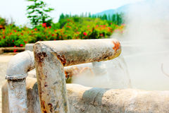 Hot spring water Stock Photography