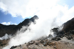 Hot spring water steam Royalty Free Stock Photography