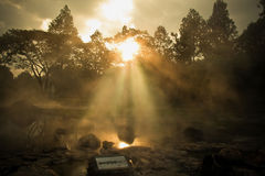 Hot spring water Royalty Free Stock Photography