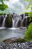Hot spring waterfall stock photo
