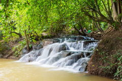 Hot spring waterfall at Khlong Thom Nuea, Krabi Royalty Free Stock Photo