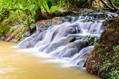 Hot spring waterfall at Krabi in Thailand Stock Photography