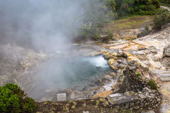 Hot spring waters in Furnas, Sao Miguel. Azores. Portugal Stock Photo