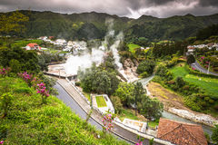 Hot spring waters in Furnas, Sao Miguel. Azores. Portugal Royalty Free Stock Photo