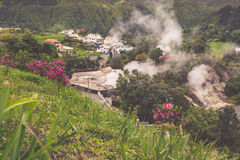 Hot spring waters in Furnas, Sao Miguel. Azores. Portugal Stock Photos