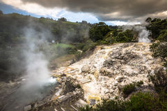 Hot spring waters in Furnas, Sao Miguel. Azores. Portugal Royalty Free Stock Photos