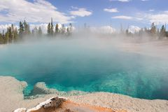 Hot Spring in Yellowstne National Park. Hot spring, Yellowstone National Park. Wyoming. USA stock photography