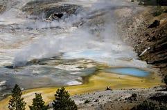 Hot spring, Yellowstone Stock Photos