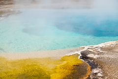 Hot Spring in Yellowstone. Morning Glory Pool in Yellowstone National Park of Wyoming stock photography