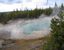 Hot spring in the Yellowstone National Park Stock Photo