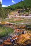 Hot Spring at Yellowstone National Park Wyoming USA Stock Photo