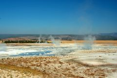 Hot Springs. Springs site in Yellowstone Park royalty free stock image
