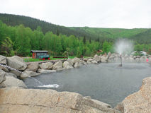 Hot springs in alaska. A hot, mineral-laden pool at chena Royalty Free Stock Photo