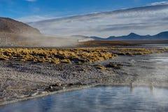 Hot Springs Altiplano Bolivia royaltyfria foton