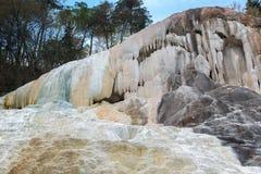 Hot Springs av Bagni San Filippo, Italien arkivfoton