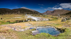 Hot springs in Bolivia Royalty Free Stock Image