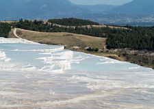 Hot springs and cascades at Pamukkale in Turkey Royalty Free Stock Photography