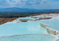 Hot springs and cascades at Pamukkale in Turkey Royalty Free Stock Image