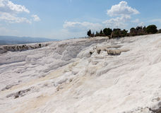 Hot springs and cascades at Pamukkale in Turkey Stock Photo