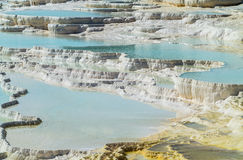 Hot springs and cascades at Pamukkale in Turkey Stock Images