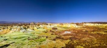 Hot Springs dans Dallol, désert de Danakil, Ethiopie Photographie stock libre de droits