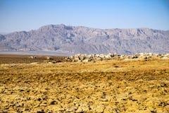 Hot Springs dans Dallol, désert de Danakil, Ethiopie Images stock