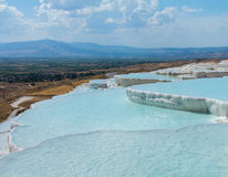 Hot Springs e cascatas em Pamukkale em Turquia Fotografia de Stock