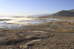 Hot Springs, Eduardo Alveroa, Uyuni Bolivia Royalty Free Stock Images
