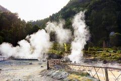 Hot springs at Furnas lake Royalty Free Stock Photos