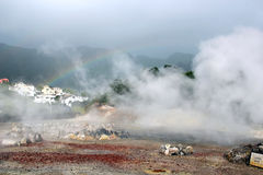 Hot springs in Furnas, Sao Miguel island, Azores, Portugal Royalty Free Stock Photo
