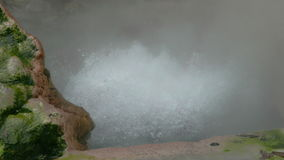 Hot Springs Geyser Closeup. Furnas, Azores, Portugal stock video footage